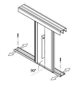 схема установки дверей шкафа-купе