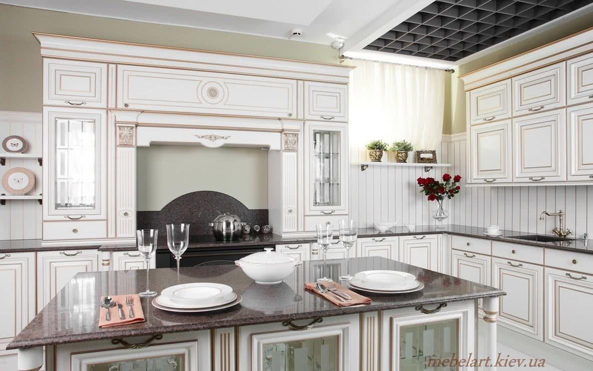 деревянная кухня на заказ в Киеве