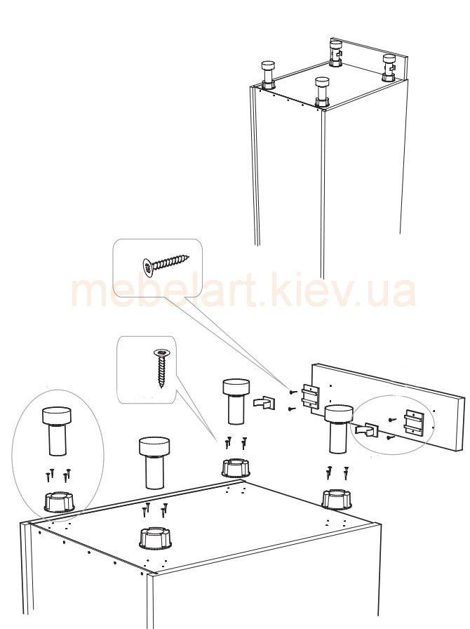 Для крепления мебельных петель