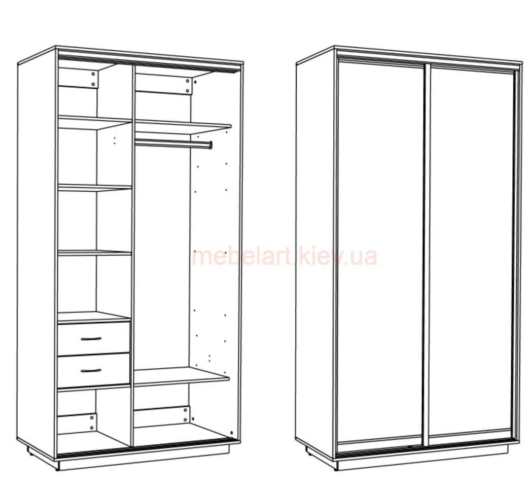 Схема план шкафа купе