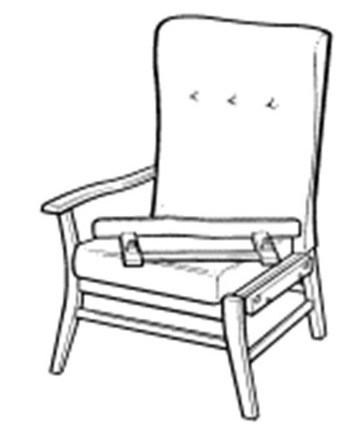 Chair with removable armrest