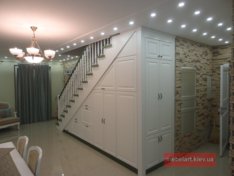 изготовление мебели под лестницу