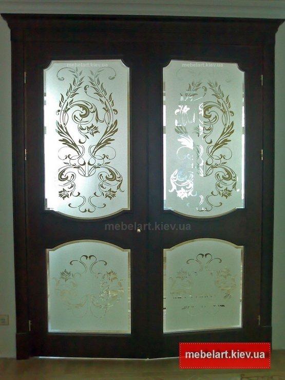 двойные деревянные двери под заказ