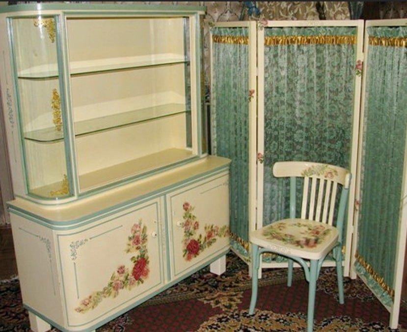 как нанести декупаж на мебель