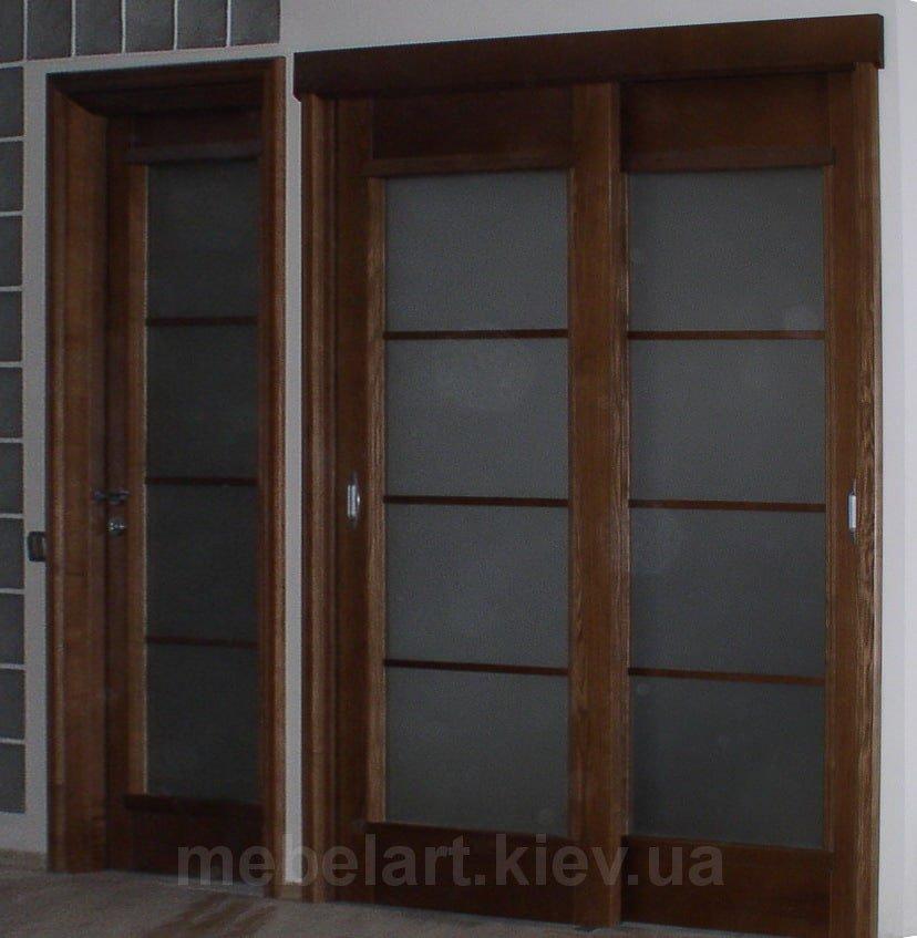 раздвижные деревянные двери на заказ