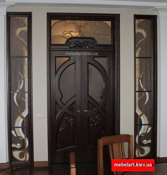 деревянные входные двери на заказ