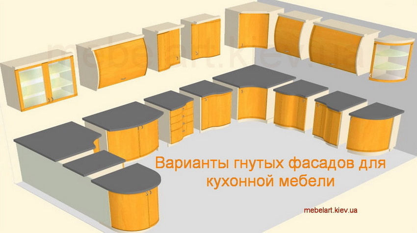 форма кухонных фасадов