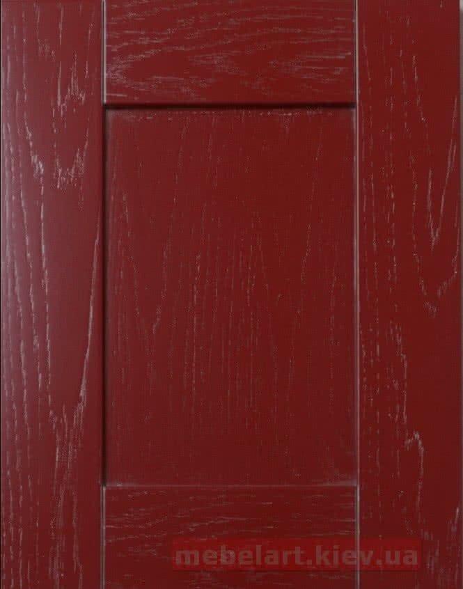 красный фасад из дерева