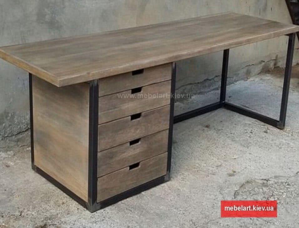 купить столы лофт из дерева недорого в Киеве