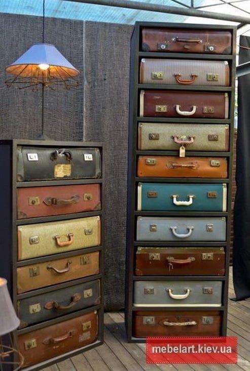 мебель из чемоданов