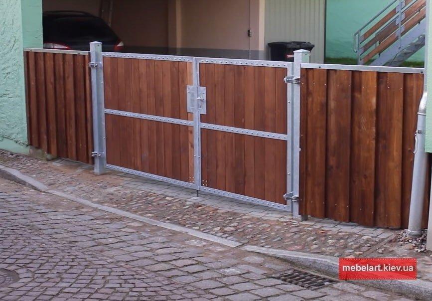 Изготовление металлических ворот в Украине
