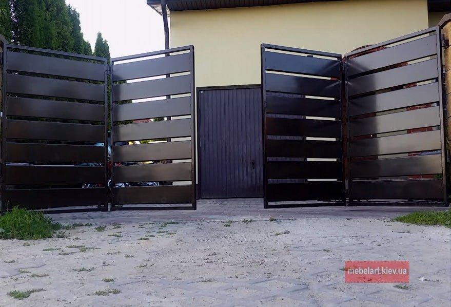 автоматизированные ворота на заказ из металла