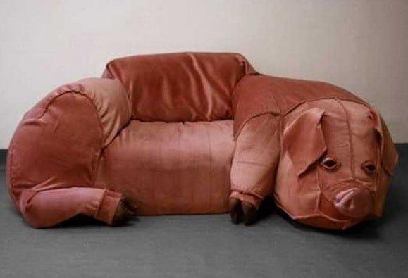 диван в виде свиньи