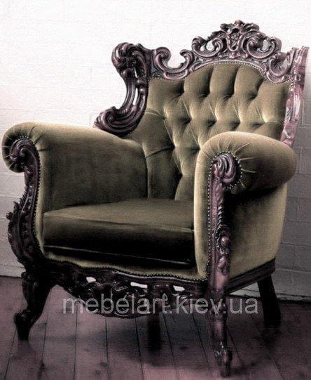 кресло с художественной резьбой