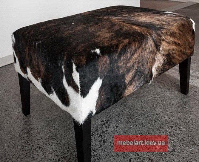 пуфик из коровьей кожи