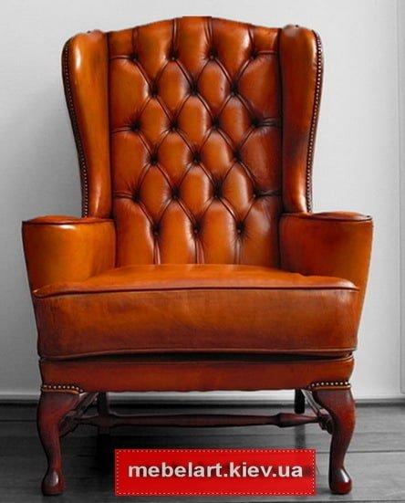 кресла из кожи