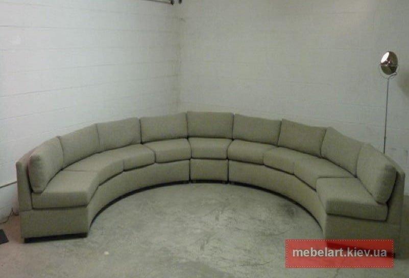изготовление круглого дивана