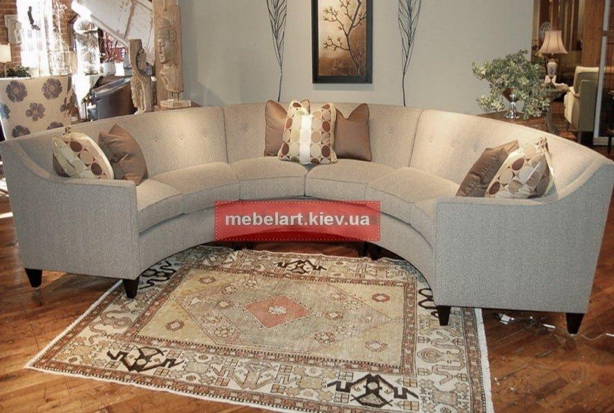радиусный белый диван
