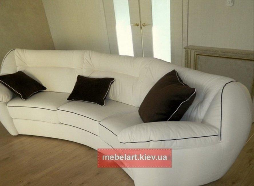 дизайн-проект радиусный диван белого цвета