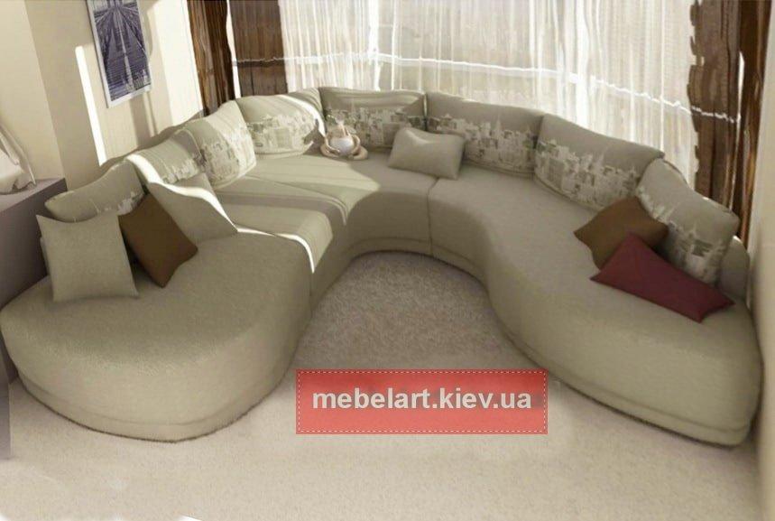 полукруглая мягкая мебель