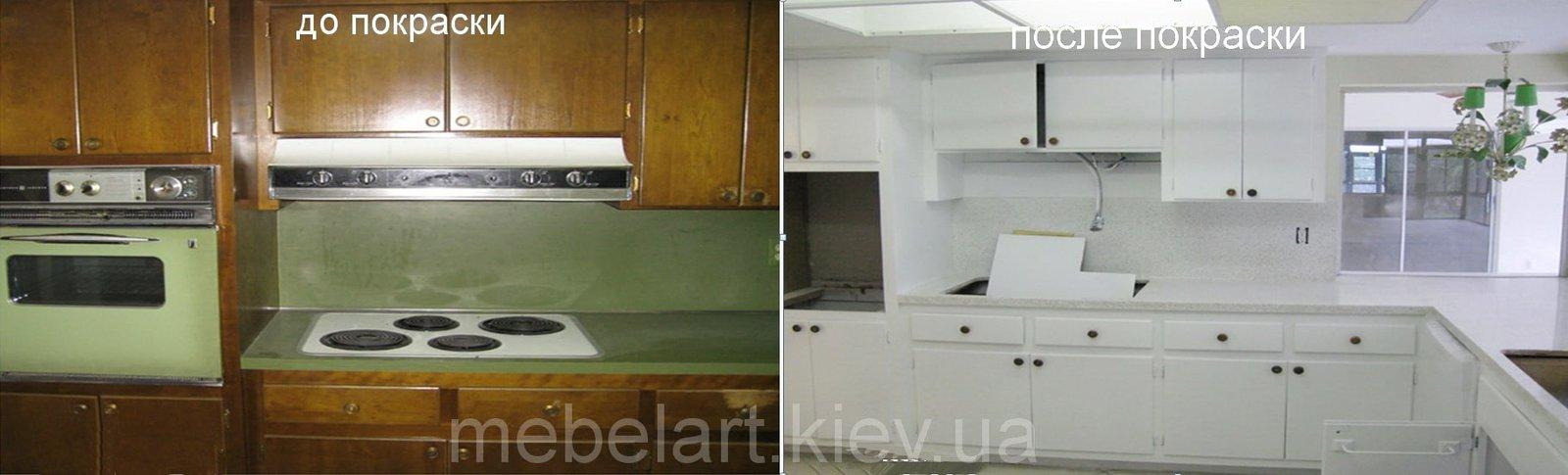 Чем красить старую мебель на кухне