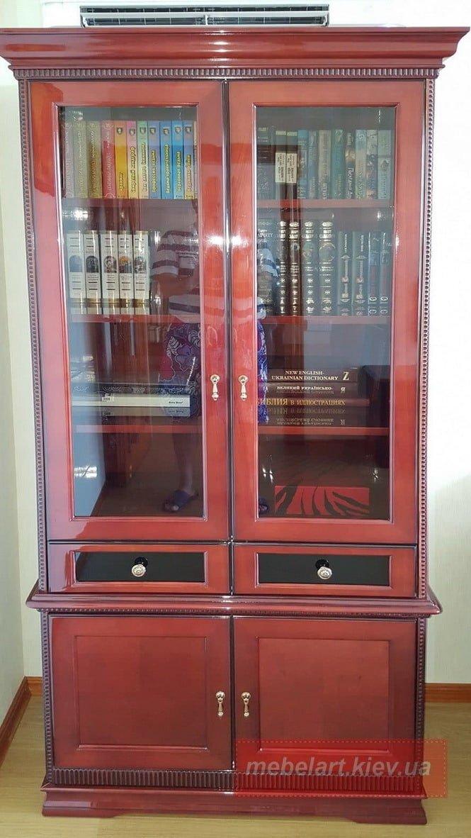 книжный шкаф из шпона днепр