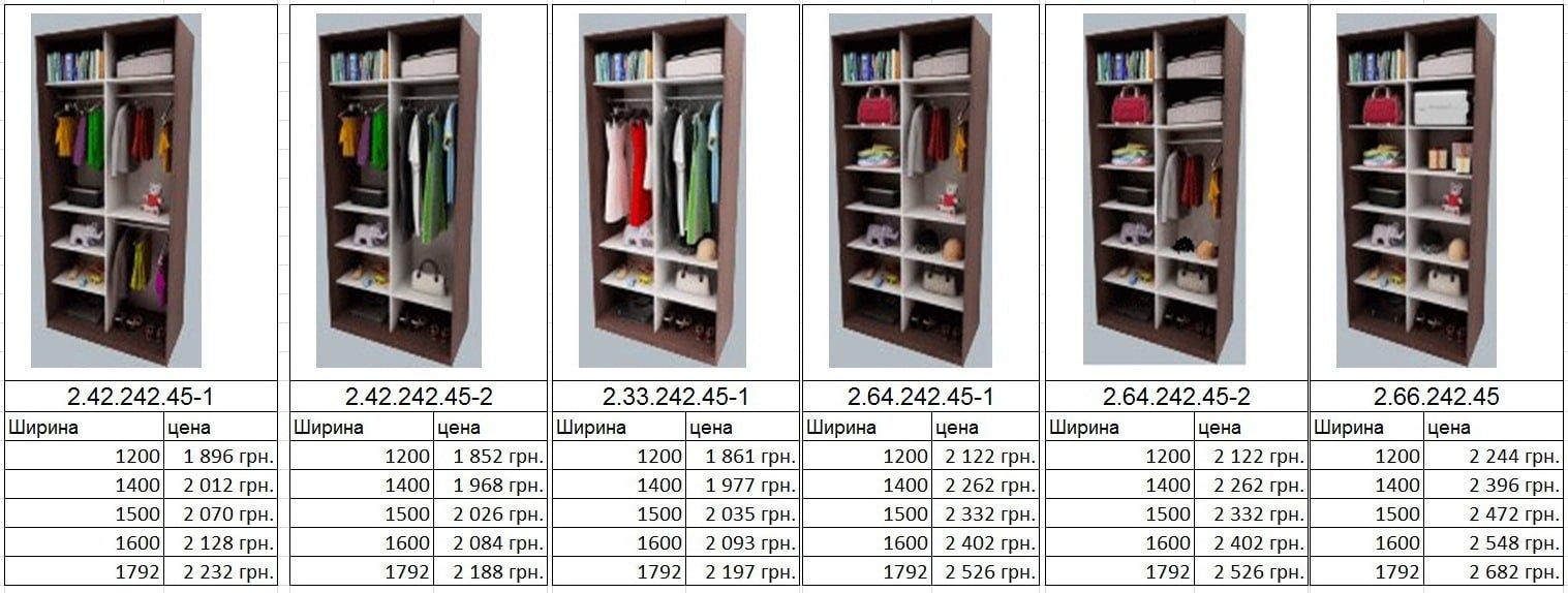 купить шкаф на две двери