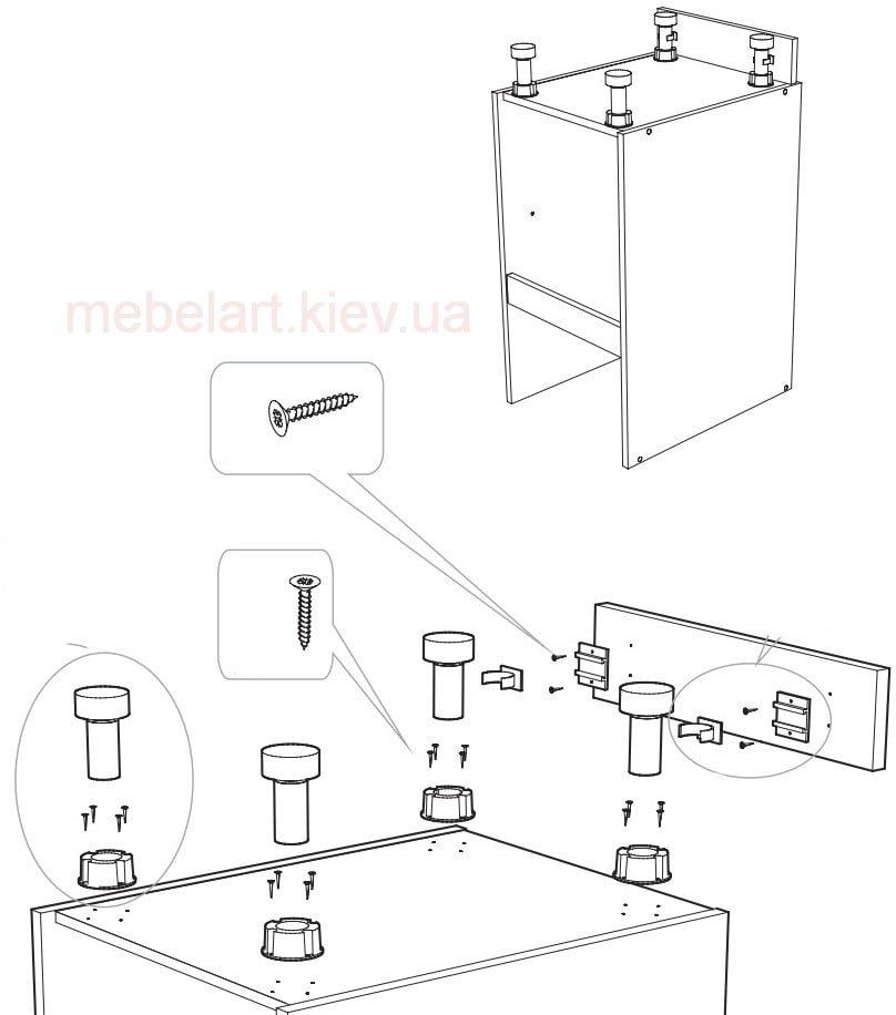 Как собрать кухонный шкаф