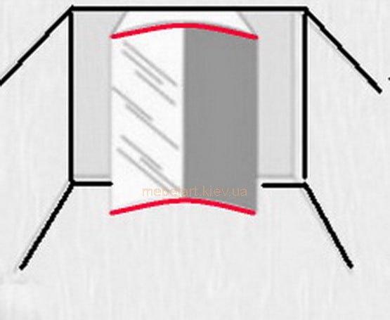 вогнутый шкаф купе