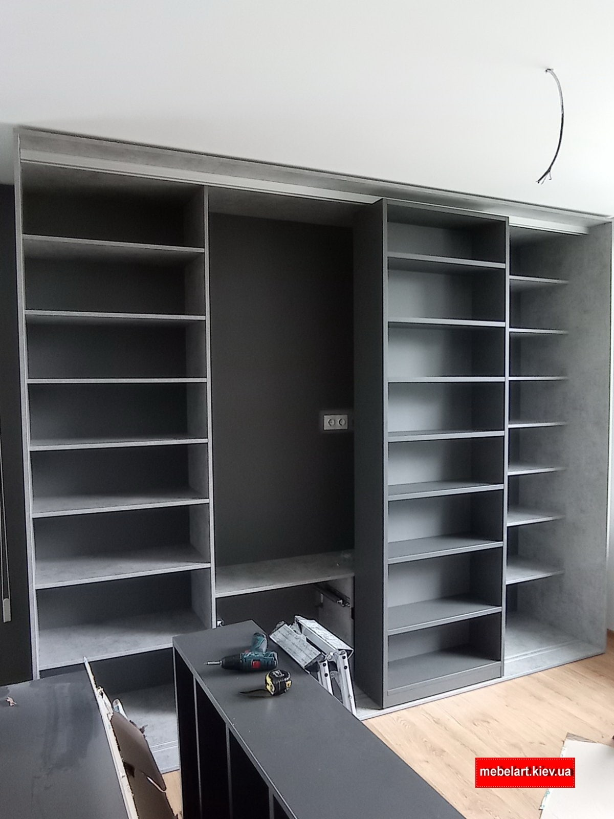 Шкаф кровать библиотека - Шкаф трансформер