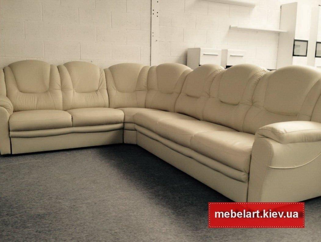 желтый роскошный угловой диван