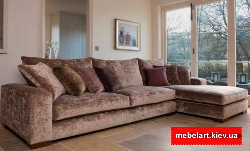 велюровый угловой диван под заказ