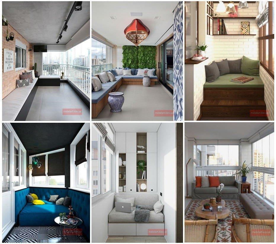 мягкий диван для балконов