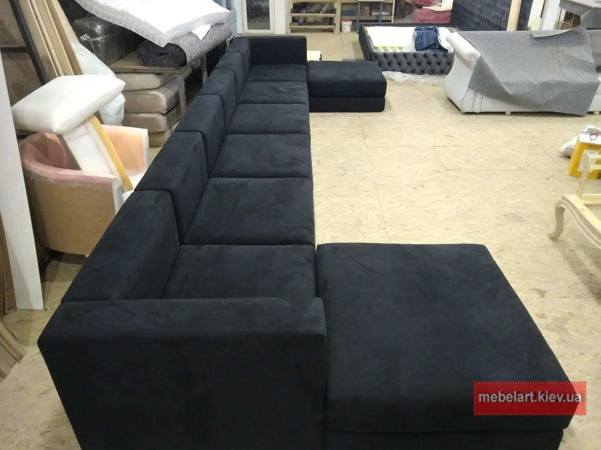 с бразный модульный серый диван