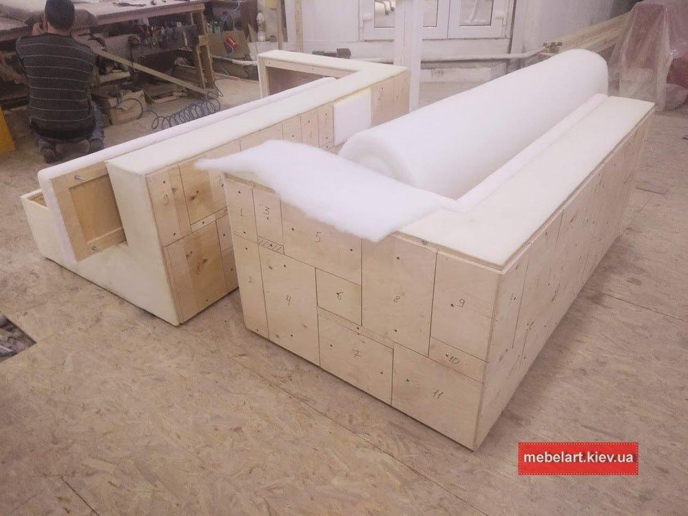 процесс изготовления модульной мякой мебели Украина