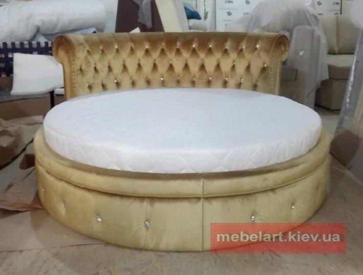 круглая желтая кровать на заказ в Одессе