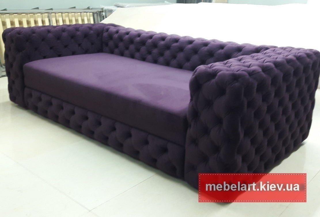 сиреневый диван на заказ