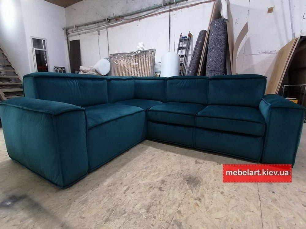 синий диван угловой ракладной