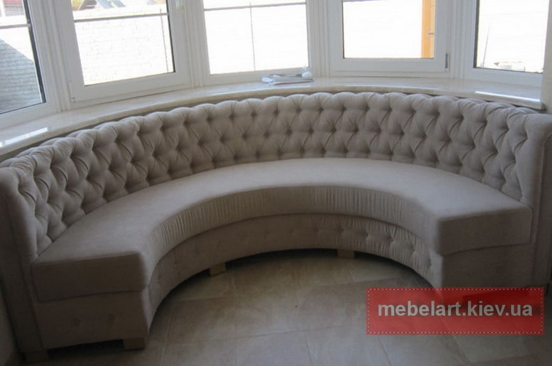 Consigned Sectional Round Sofa