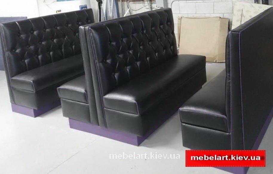 диваны черные для кафе под заказ