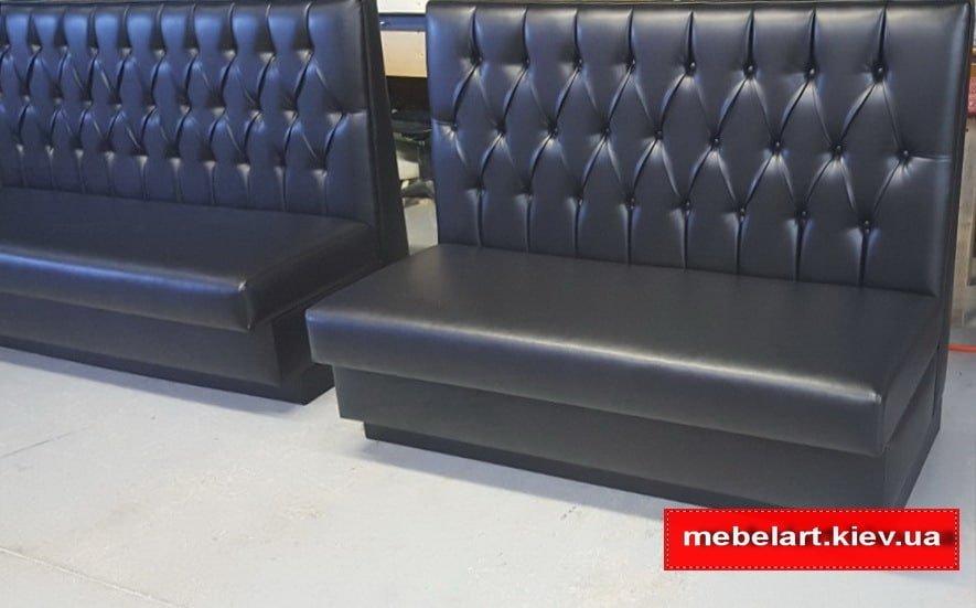 черный прямой диван