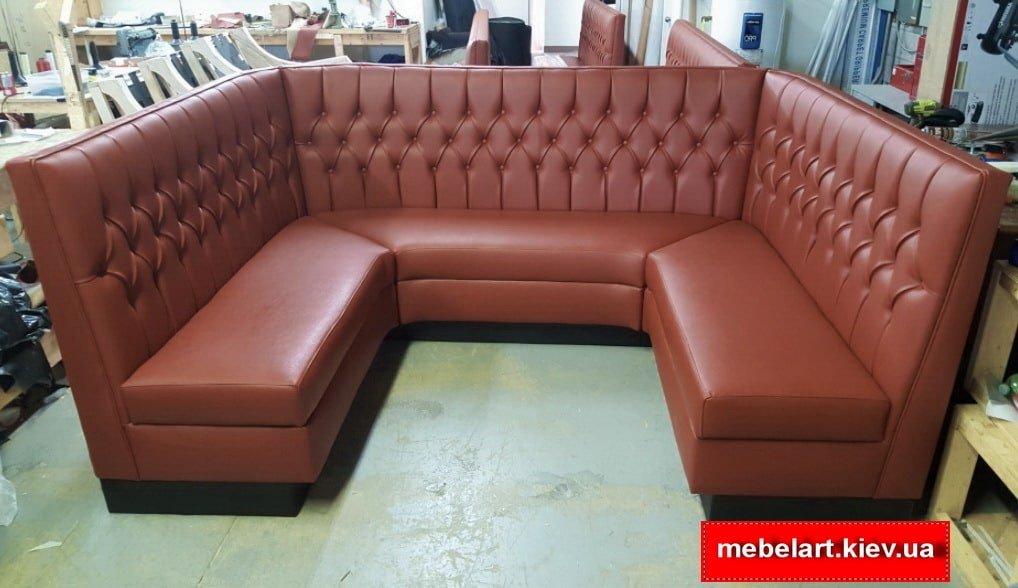 радиусный диван для кафе