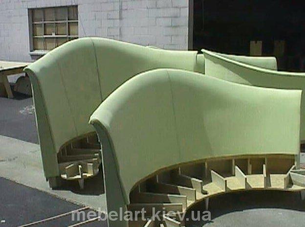 как делают радиусные диваны