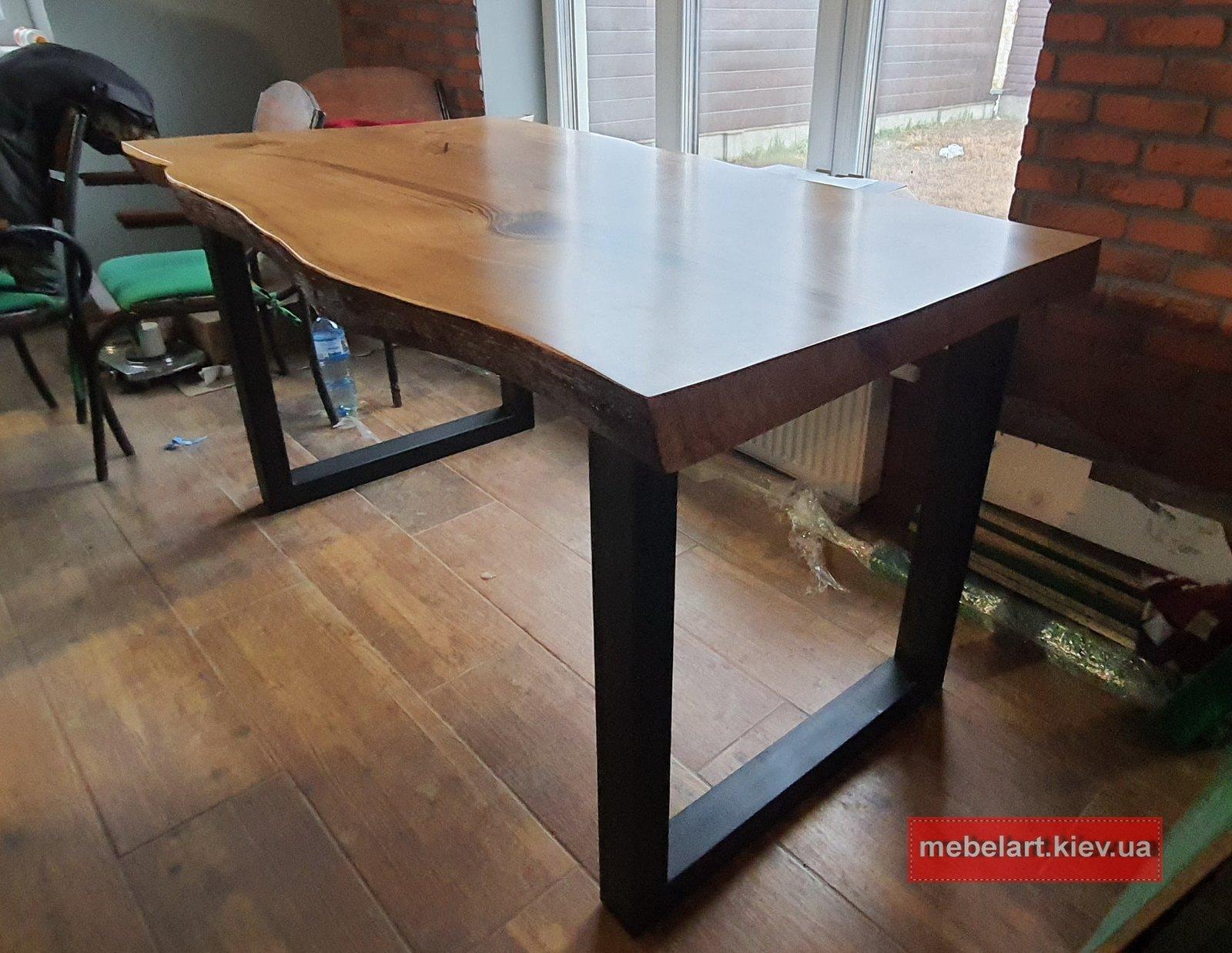 сборка стола слэб на кухню