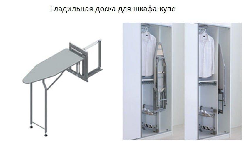 Выдвижная гладильная доска для шкафа