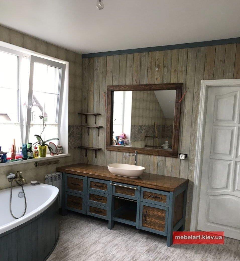 мебель из дуба в ванную