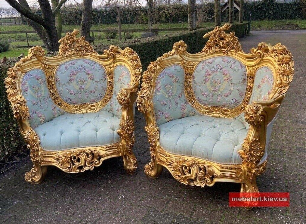 изготовление мягкой мебели в стиле барокко Киев