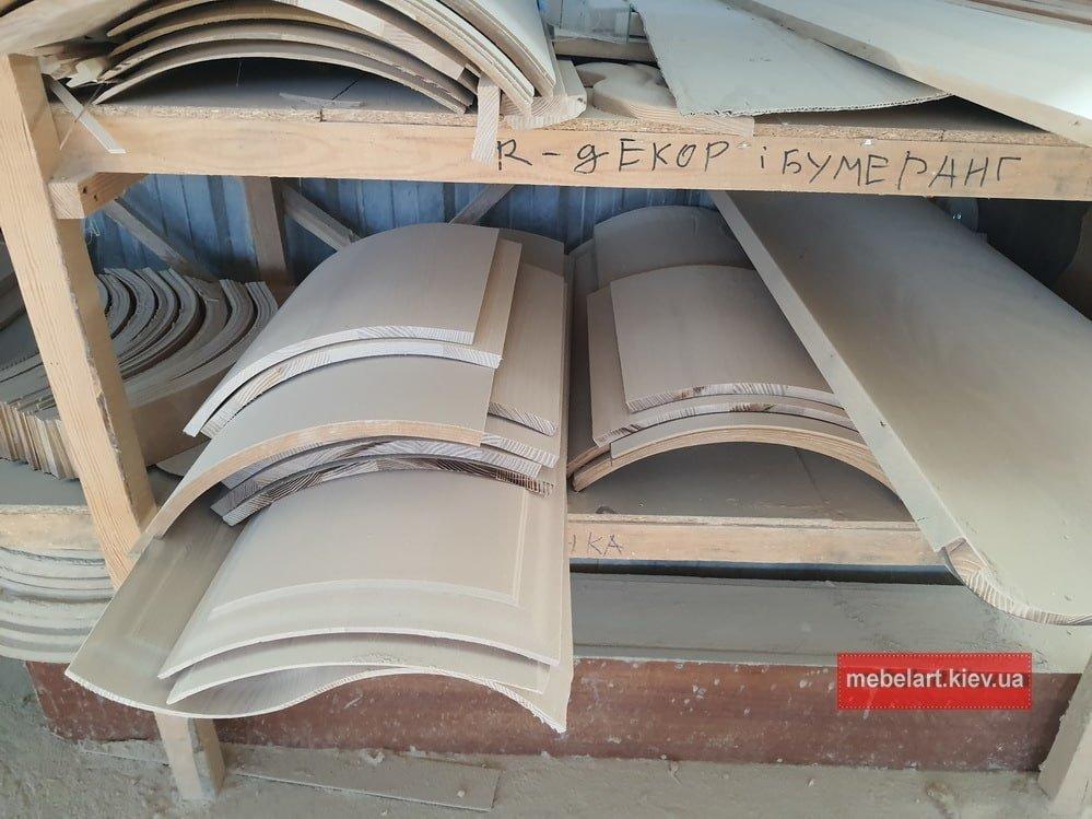 фасады для радиуснорго шкафа-купе