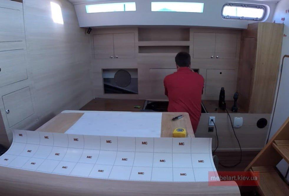 отделка фанерой яхты