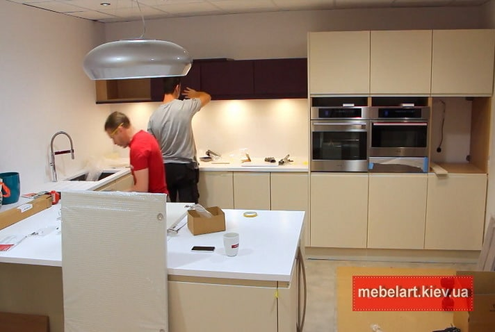 процесс изготовления и установки кухни на заказ Обухов